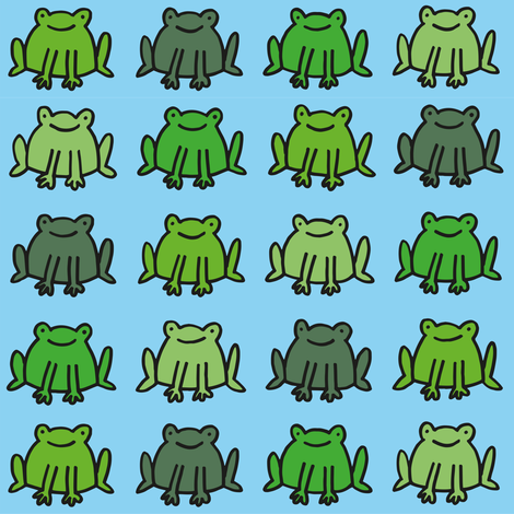 frogs fabric by philippittam on Spoonflower - custom fabric