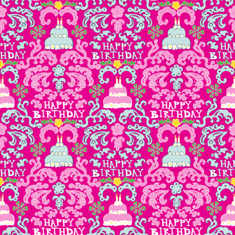 Let Them Eat Birthday Cake fabric by mag-o on Spoonflower - custom fabric