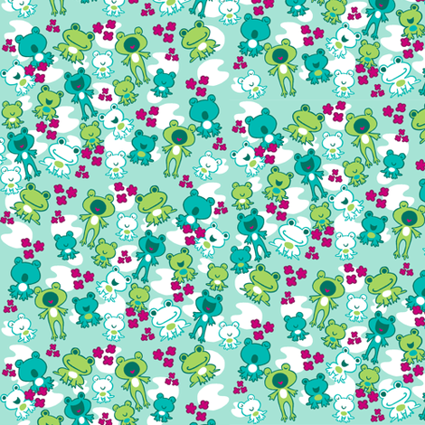 Frog Party fabric by aimee on Spoonflower - custom fabric