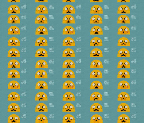 Jake the dog fabric by peepsy on Spoonflower - custom fabric