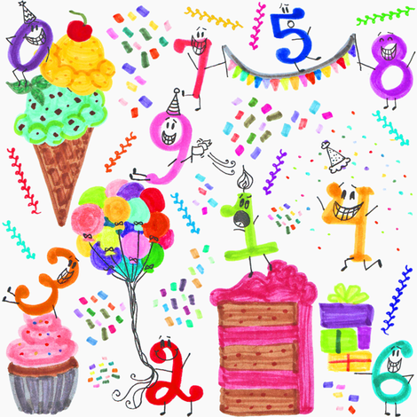 Birthdayland fabric by graceful on Spoonflower - custom fabric