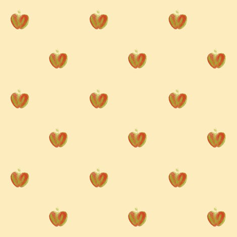 apple dots fabric by weavingmajor on Spoonflower - custom fabric