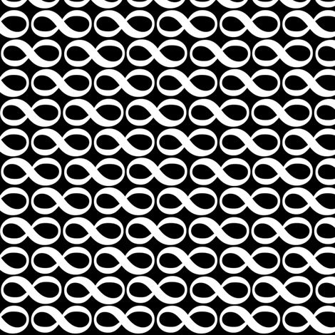 serenity infinity white on black fabric by weavingmajor on Spoonflower - custom fabric