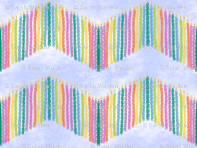 Rainbow Birthday Candle Chevron