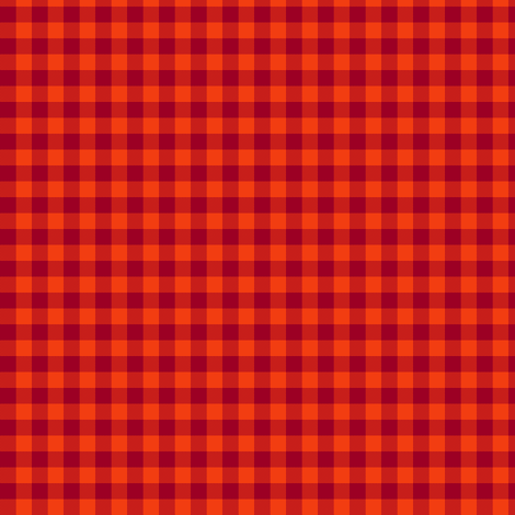 tomato gingham fabric by weavingmajor on Spoonflower - custom fabric