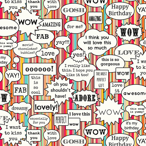 wow thank you so much fabric by scrummy on Spoonflower - custom fabric