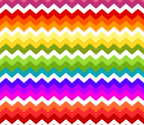 Ziggy Rainbow fabric by natitys on Spoonflower - custom fabric