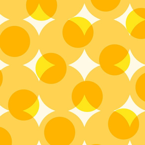 enormous halftone dots in sunshine yellows