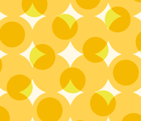 enormous halftone dots in sunshine yellows fabric by weavingmajor on Spoonflower - custom fabric