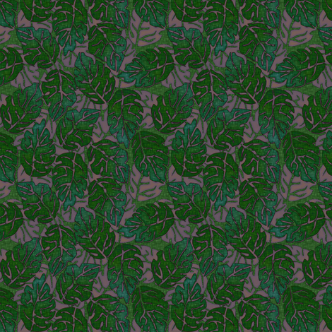 leaves apart mauve fabric by glimmericks on Spoonflower - custom fabric