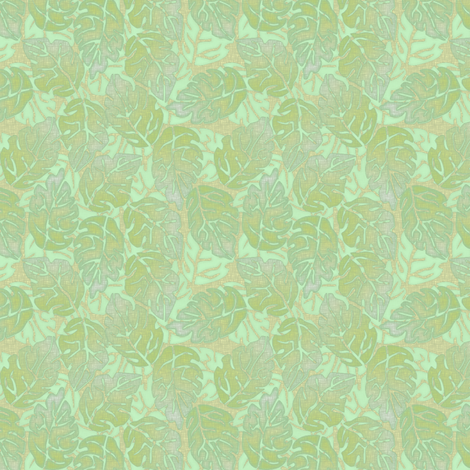 leaves apart mint fabric by glimmericks on Spoonflower - custom fabric