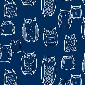"""Little"" Night Owl (Dark Blue)"