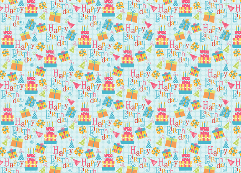 Happy Birthday! fabric by snowflower on Spoonflower - custom fabric