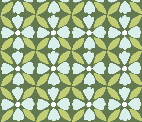 flower-grid3 fabric by owlandchickadee on Spoonflower - custom fabric
