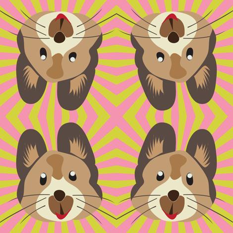 Pika Fun! fabric by owlandchickadee on Spoonflower - custom fabric