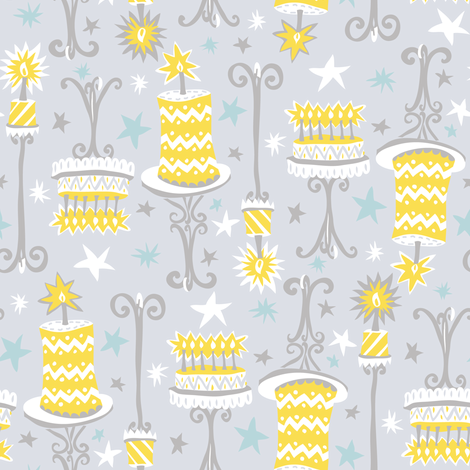 Classy Cakes fabric by katrinazerilli on Spoonflower - custom fabric