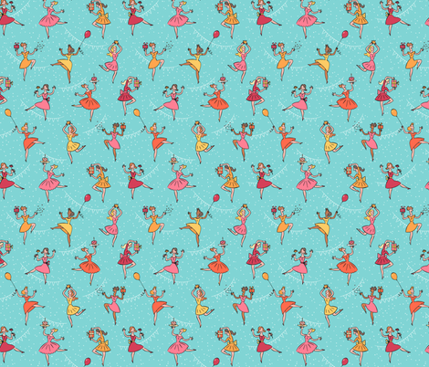 happy_birthday_dance fabric by alexandra_pillaert on Spoonflower - custom fabric