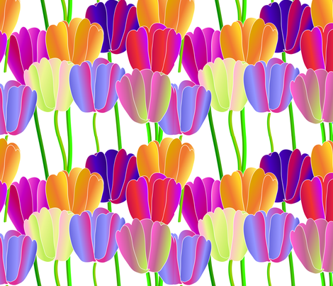 tulip 1 fabric by kaija on Spoonflower - custom fabric