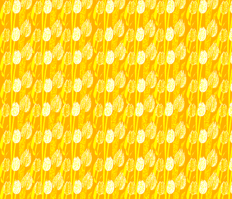 yellow tulips ,  fabric by playbox_ on Spoonflower - custom fabric
