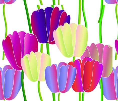 tulip 2 fabric by kaija on Spoonflower - custom fabric