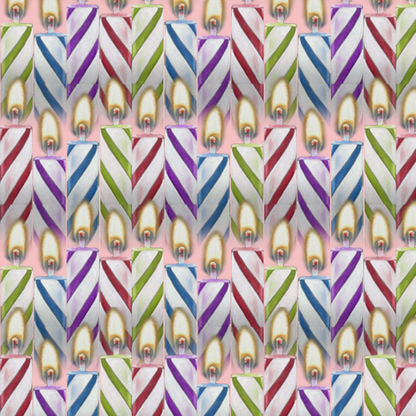 Birthday Candles fabric by sufficiency on Spoonflower - custom fabric