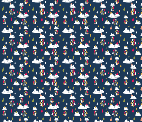 birthday raindrops fabric by laura_the_drawer on Spoonflower - custom fabric