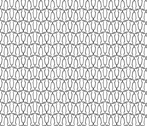 Bones fabric by slickandhisruin on Spoonflower - custom fabric