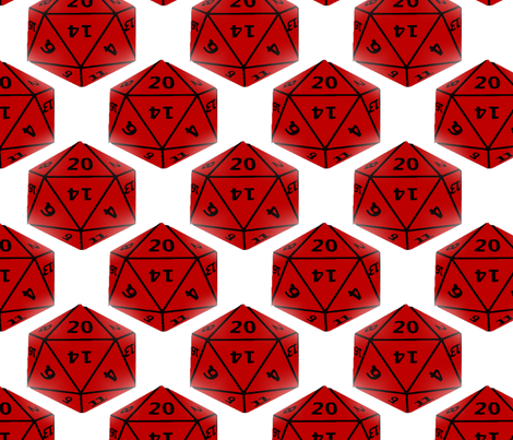 Geek Dice fabric by slickandhisruin on Spoonflower - custom fabric