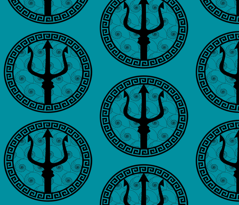 Poseidon's Sheild fabric by kfrogb on Spoonflower - custom fabric