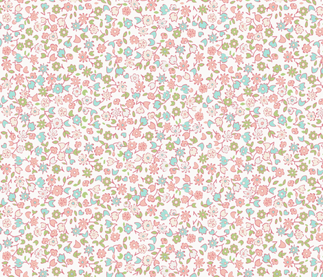 Spring flowers fabric by anastasiia-ku on Spoonflower - custom fabric