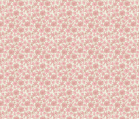Spring flowers in pink fabric by anastasiia-ku on Spoonflower - custom fabric