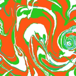 Marble Orange Green
