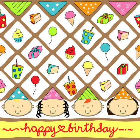birthday fabric by purplefiretree on Spoonflower - custom fabric