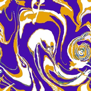 Marble Purple Yellow