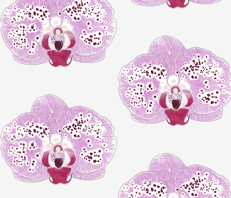 Simple purple orchid fabric by melbity on Spoonflower - custom fabric