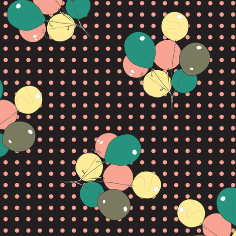 ballons_on_dots fabric by susiprint on Spoonflower - custom fabric