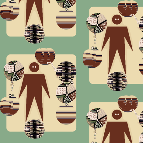 Man of Many Worlds fabric by robin_rice on Spoonflower - custom fabric