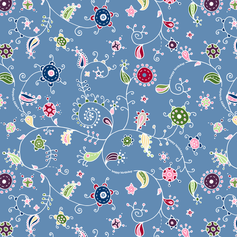 birthday scribbles fabric by karinka on Spoonflower - custom fabric