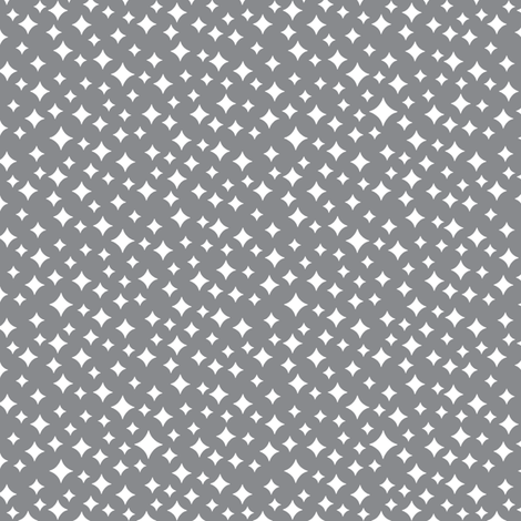 Airwaves (White on Gray) fabric by pennycandy on Spoonflower - custom fabric