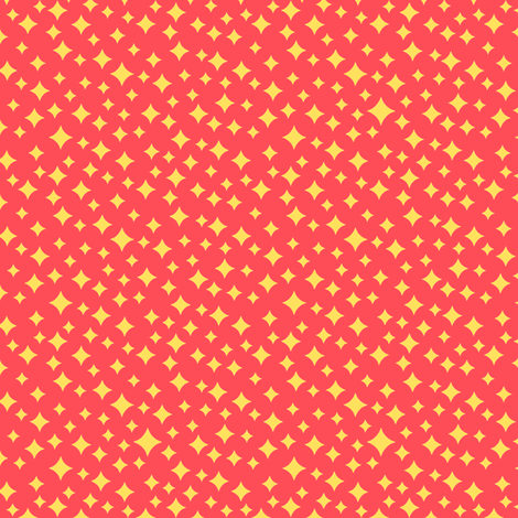Airwaves (Yellow on Red) fabric by pennycandy on Spoonflower - custom fabric