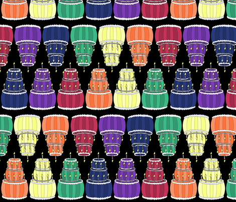 Rainbow of Cakes fabric by pond_ripple on Spoonflower - custom fabric
