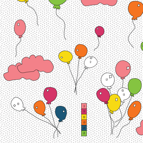 Happy, Happy, Birthday fabric by pink_koala_design on Spoonflower - custom fabric