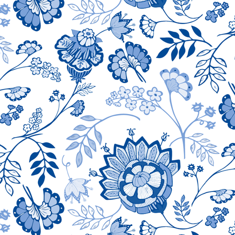Cobalt Provence fabric by kari_d on Spoonflower - custom fabric