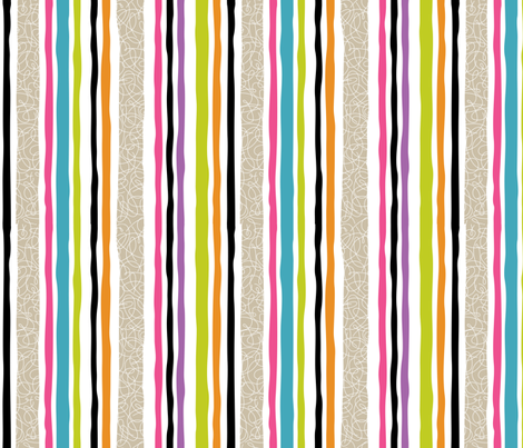 Geek Chapeau STRIPE MULTI fabric by gitchyville_stitches on Spoonflower - custom fabric
