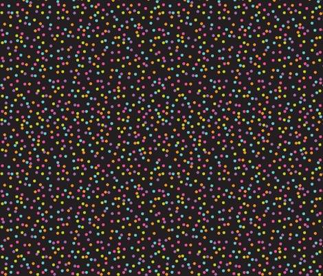 Geek Chapeau TINY DOTS BLACK fabric by gitchyville_stitches on Spoonflower - custom fabric