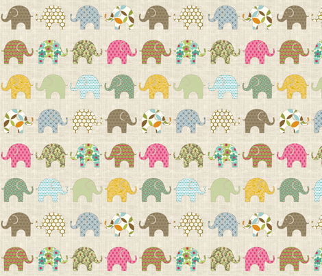 Colorful Ellie fabric by littlerhodydesign on Spoonflower - custom fabric