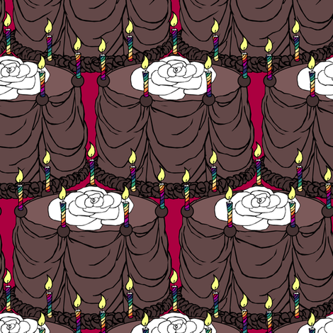 Chocolate, Chocolate Cake fabric by pond_ripple on Spoonflower - custom fabric