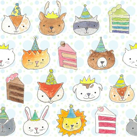 Birthday Party Pets! fabric by pattyryboltdesigns on Spoonflower - custom fabric