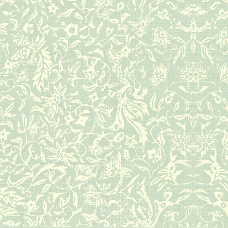 Bird of Paradise - celadon, ivory-ed
