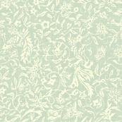 Bird of Paradise - celadon, ivory-ed